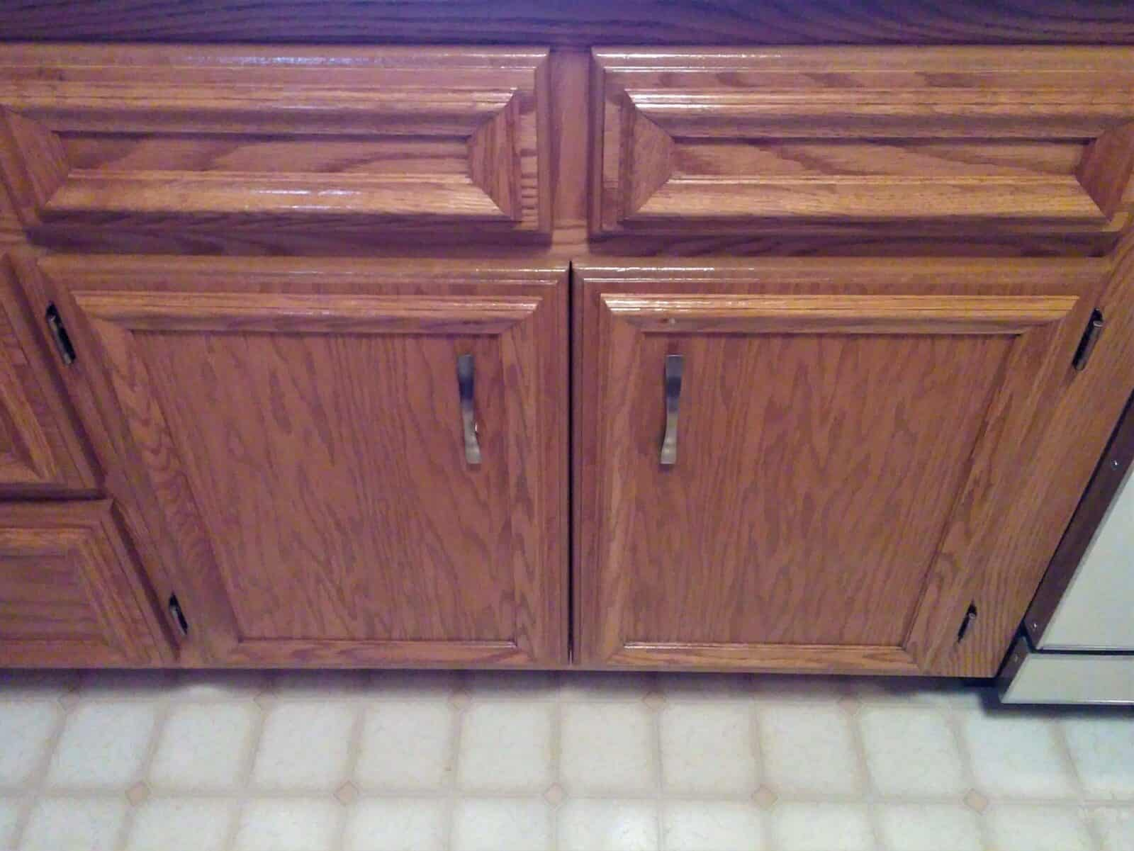 cabinets after refinishing photo